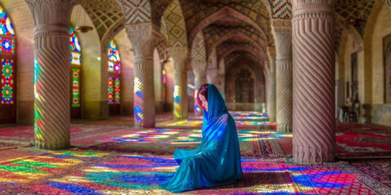 السفر إلى شيراز: شهرة المسجد الوردي