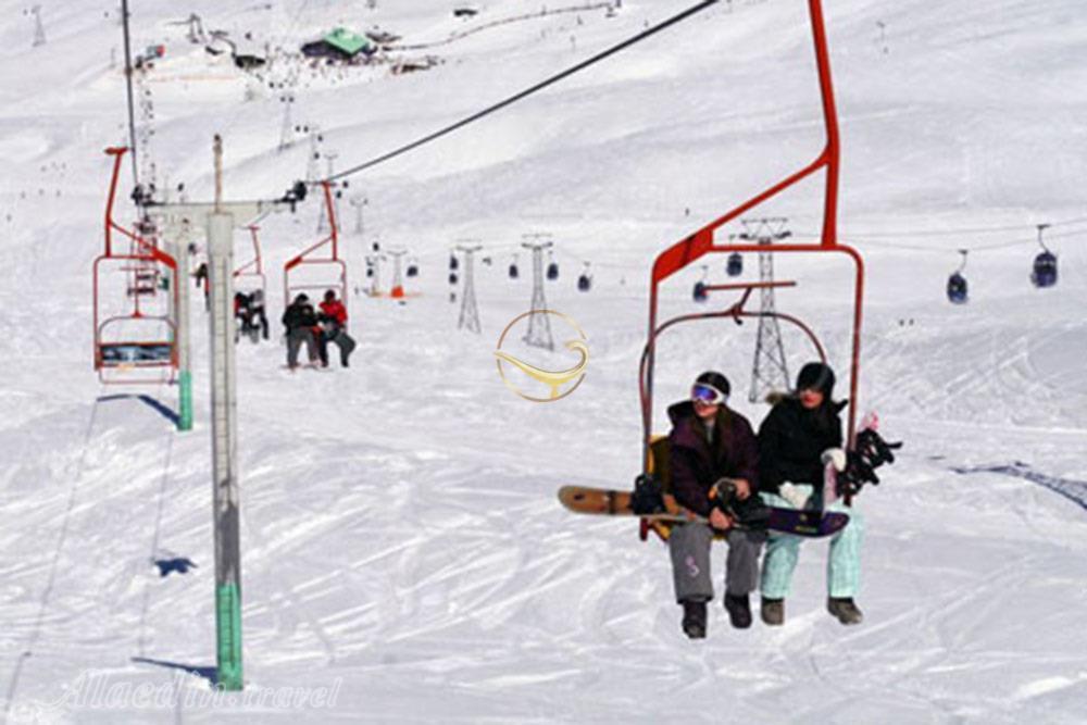 التزلج على الجليد في إيران ، منتجع ديزين للتزلج